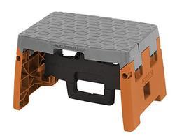 COSCO 1 Step Molded Folding Step Stool, Type 1A, Black, Oran