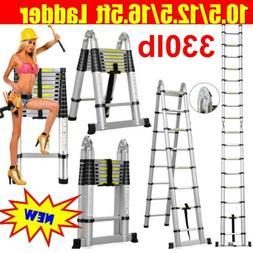 10.5/12.5/15.5/16.5 FT Telescoping Ladder Telescopic Extensi