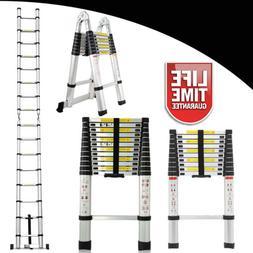 10.5 12.5 16.5FT Aluminum Multi-Purpose Telescopic Ladder Ex
