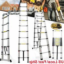 10.5 12.5 17FT Aluminum Multi-Purpose Telescopic Ladder Exte