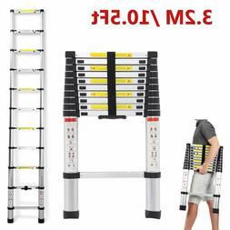 Folding 10.5FT/12.5FT Aluminum Multipurpose Ladder Garden To