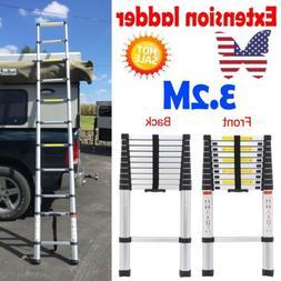 10.5FT Aluminum Multipurpose Extension Ladder Foldable Duty
