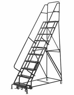 10 step rolling warehouse staircase ladders made