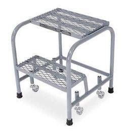 "COTTERMAN 1002N1818A1E10B3C1P1 20"" H Steel Rolling Ladder, 4"