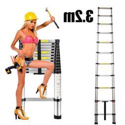 10FT5 Telescopic Ladder 3.2m Aluminum Multi-purpose Home hea