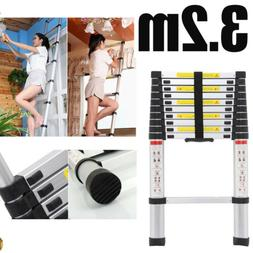 10FT5 Telescopic Ladder 3.2m Extendable Step Aluminum max 15
