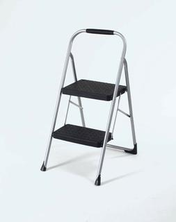 Cosco 11308PBL1E Two Step Big Step Folding Step Stool with R