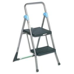 Cosco 11829GGB Commercial Steel Folding Step Stool, 2-Step,