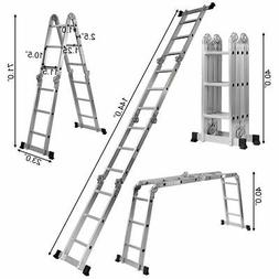 12.5' 12-Step Multi Purpose Step Platform Aluminum Folding S