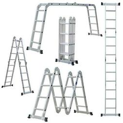 12.5/19.5FT Multi Purpose 12/20 Steps Platform Aluminum Fold