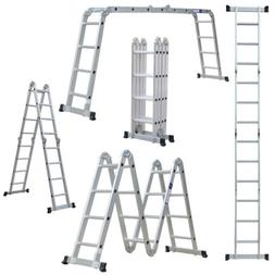 12.5/19.5FT Multi Purpose 12/20 Steps Platform Aluminum Fold