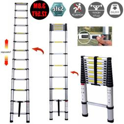 Dayplus 12.5 Feet Aluminum Telescopic Extension Ladder -EN13