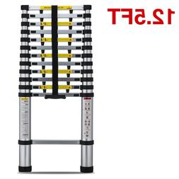 OxGord 12.5 Feet Aluminum Telescopic Extension Ladder - EN13