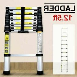 12.5 Ft Heavy Duty Aluminum Telescoping Ladder Extension Mul