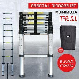12.5 FT Telescoping Extension Ladder Folding Portable Alumin