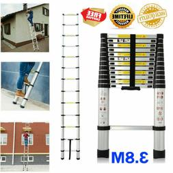 12.5FEET 12 Steps Aluminium Collapsible Retractable Stairs L