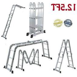 12.5FT 12-Steps Multi Purpose Step Platform Aluminum Folding