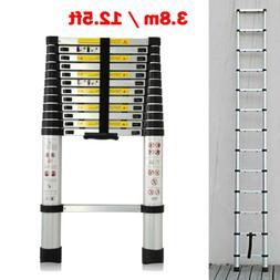 12.5FT 3.8m Aluminum Telescoping Telescopic Extension Ladder