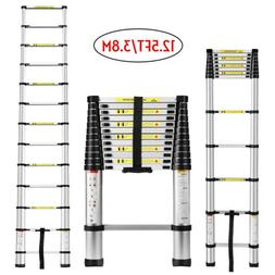 12.5FT Aluminium Ladders Telescoping Multi-Purpose Extension
