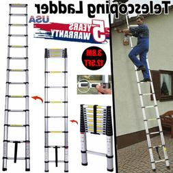 12.5FT Aluminium Multi-Purpose Telescopic Ladder Extension S