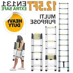 12.5Ft Aluminum Telescopic Extension Folding Step Multi-Use