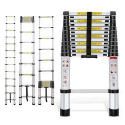 10.5FT Aluminum Telescopic Extension Ladder Extendable Foldi