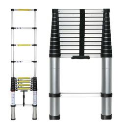 12.5ft Telescoping Ladder Thick Aluminum Telescopic Extensio
