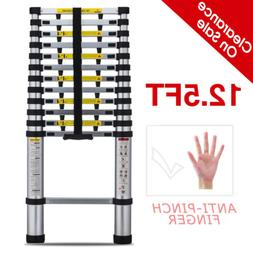 12.5FT Anti-Pinch Finger Extension Telescoping Ladder Step S
