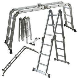 12.5FT EN131 330LB Multi Purpose Step Platform Aluminum Fold