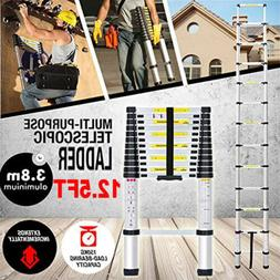 12.5FT EN131 Telescoping Ladder Aluminum Telescopic Extensio