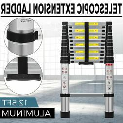 12.5FT Extension Aluminum Heavy Duty Step Ladder Folding Mul