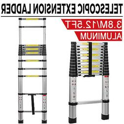 12.5FT Folding Ladder Multi Purpose Aluminum Telescopic Exte