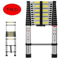 12.5FT Folding Multi Purpose Telescopic Extension Ladder Alu