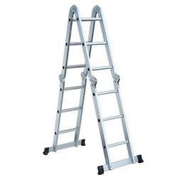 12.5ft Multi Purpose Aluminum Telescopic Ladder Heavy Duty F