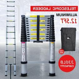 12.5FT Step Ladder ExtensionTelescoping Lightweight Portable