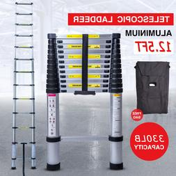 12.5FT Step Ladder Extension Telescoping Lightweight Portabl