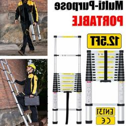 12 5ft telescopic extension aluminum step ladder