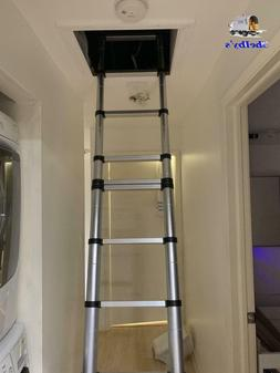 Hausse 12.5ft Upgrade Aluminum Telescoping Ladder with Detac