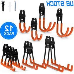 12 pack garage storage hooks steel tool