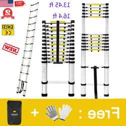 13.45FT 16.4FT Aluminum Multi-Purpose Telescopic Ladder Exte