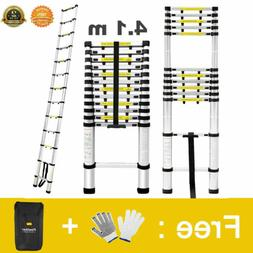 13.45FT Aluminum Telescopic Ladder Extendable Tool Retractab