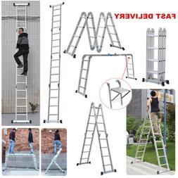 14-in-1 15.5ft 4.7m Aluminium Ladder Multi Function Purpose