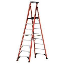 14FT REACH HEIGHT FIBERGLASS PODIUM LADDER 8FT TYPE IA PDIA0