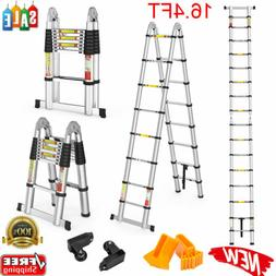 16.4 FT Aluminium Telescopic Ladder Multi-Purpose Folding St