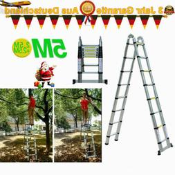 16.4Ft A Shape Aluminum Multi Purpose Telescopic Ladder Exte