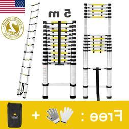 16.4FT Aluminium Step Ladder Extension Telescoping Lightweig