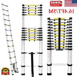 16.4FT Aluminum Telescoping Ladder Multi-Purpose Foldable Lo