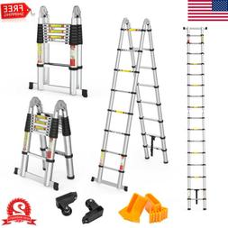 16.4FT Folding Step Ladder Telescopic Extension Lightweight