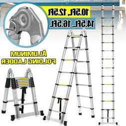 12.5//10.5 FT Aluminium Telescopic Ladder Extension Multi-Purpose Steps EN131
