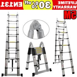 16.5FT Aluminium Ladders Telescoping Multi-Purpose Extension